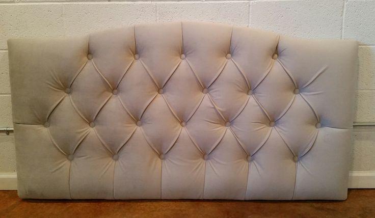 Full Sized Grey Velvet Tufted Upholstered Headboard Custom