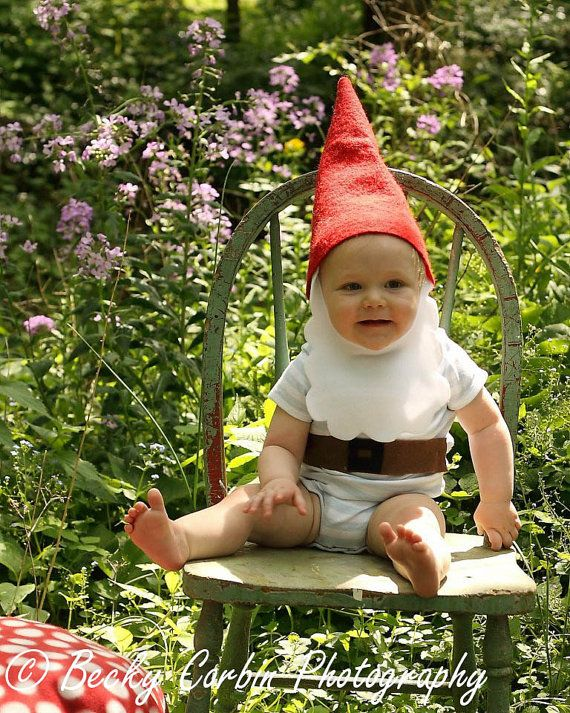 Baby Halloween Costumes — The gnome and the scuba diver! super easy and freaking cute!