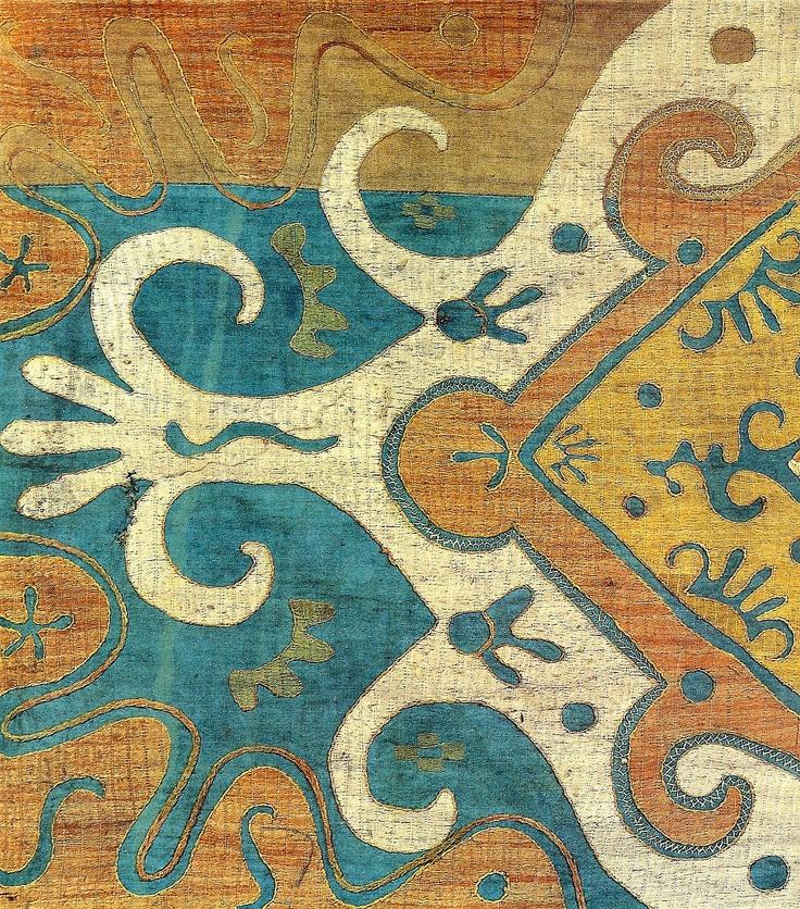 Вышивка кайтагская.Начало 19 века.Дагестан.
