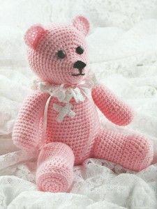 вязание крючком-медведь-игрушка