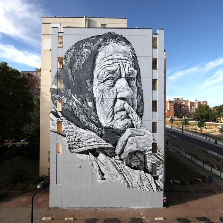'Darya' by Hendrik Beikirch (aka ECB) for Wall Street Art festival - Grand Paris Sud. Link in bio.