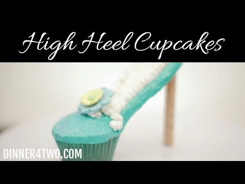 How to make High heel Stiletto cupcakes - YouTube