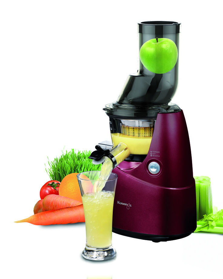 """""""Whole Slow Juicer Big Mouth"""" - No need to cut the vegetable or fruit into pieces. This juicer can take anything and delivers unique and delicious juices"""