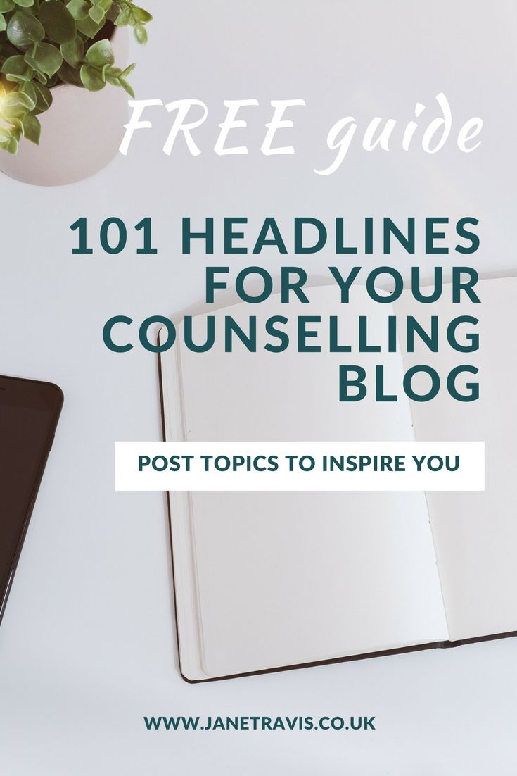 FREE guide: You know blogging will boost your therapy practice, but what do you write about? Here are 100 headlines to give you inspiration on what to write about