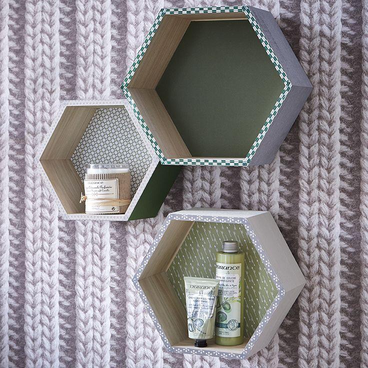 Étagères hexagone - haptique