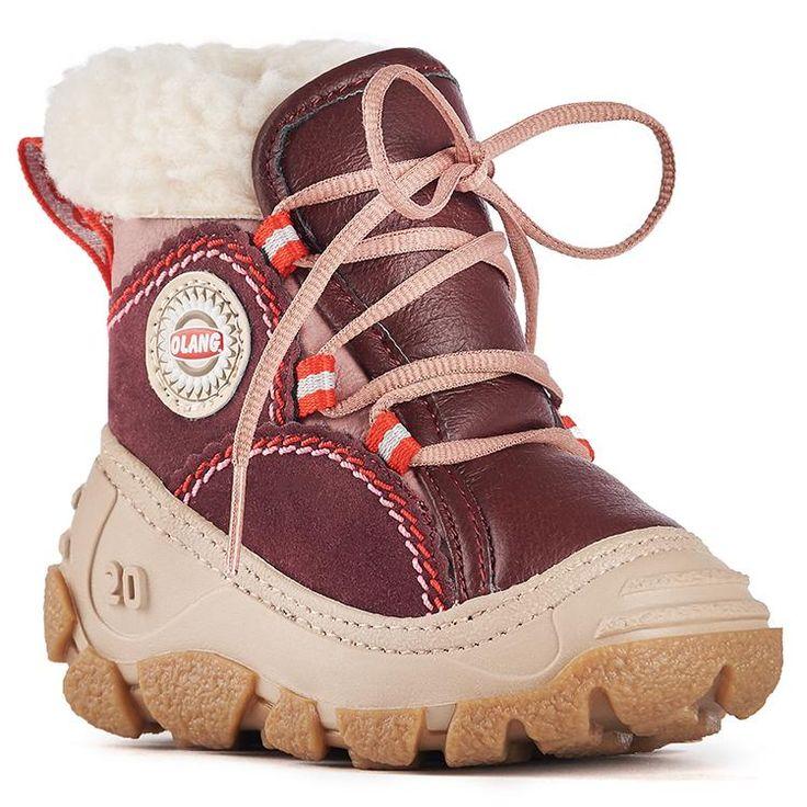 Olang RANDA BORDEAUX Bottes Hivers pour Enfants Le fabricant italien Olang possède une expertise de plus de vingt ans dans la fabrication de bottes d'enfants. C