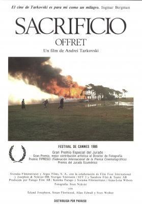 Sacrificio (1986) Suecia. Dir: Andrei Tarkovski. Drama. Relixión - DVD CINE 1264