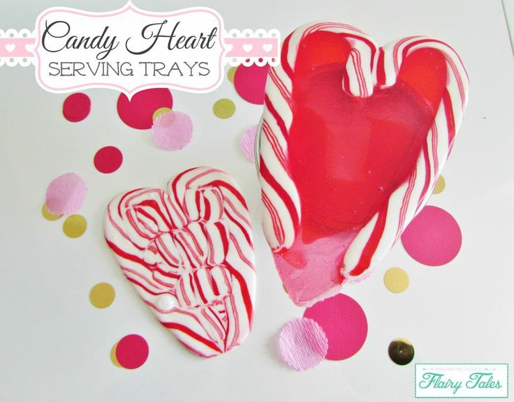 Make Mini Serving Trays By Melting Candy Canes And Jolly