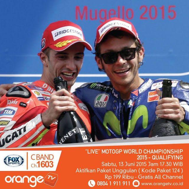 Orange TV Siaran Langsung Liga Inggris Tulungagung: LIVE, MotoGP World Championship 2015, Babak Qualifying. Sabtu 13 Juni 2015, Pukul 17.30 WIB.di Fox Sport Channel # 1603 C-Band & # 603.