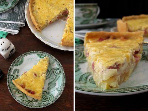 Постигая искусство кулинарии... : Закусочный луковый пирог с копченой колбасой