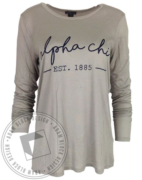 Alpha Chi Omega 1885 Longsleeve by Adam Block Design | Custom Greek Apparel & Sorority Clothes | www.adamblockdesign.com