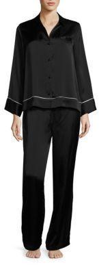 Josie Natori Key Essentials Solid Silk Pajama Set
