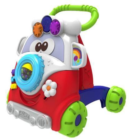 """Chicco Игровой центр-ходунки Baby Walker  — 3100р. ------------- Игровой центр-ходунки """"Baby Walker"""" марки Chicco. Яркий игровой центр на четырёх больших колёсах выполнен в виде забавного винтажного автобуса.Передняя панель дополнена подвижными игровыми элементами, а также прозрачным контейнером с шариками. Толкая ходункивперед малыш быстро освоит навыки ходьбы. Четыре больших колеса помогут крохе сохранить баланс при движении. Игровая панель на батарейках содержит пять разных игр…"""