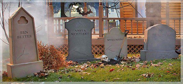 A grave situation:  Tutorials for making Halloween tombstones