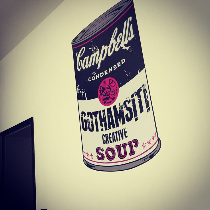 Mission accomplished! #andywarhol #campbellssoup #gothamsiti #wallstickers #wallart