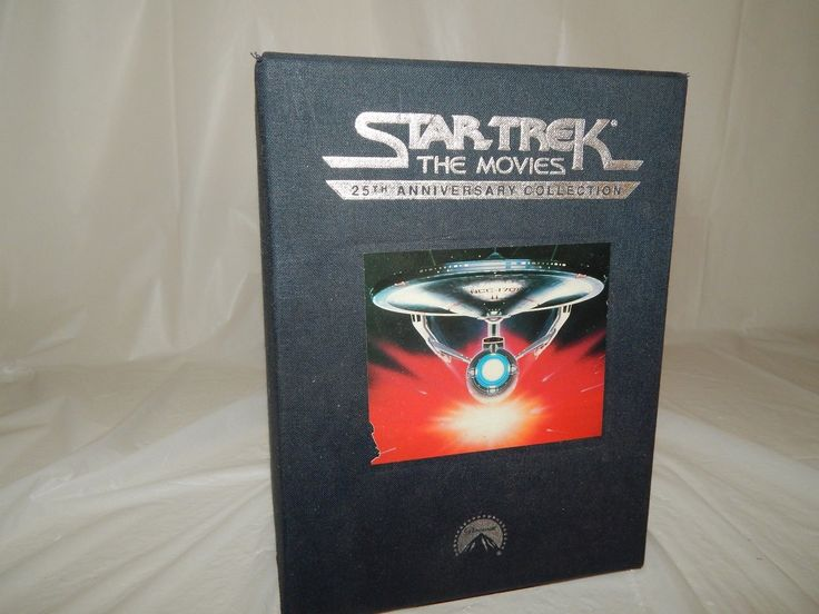 Star Trek The Movies 25th Anniversary Collection with Collectors Pins VHS Set