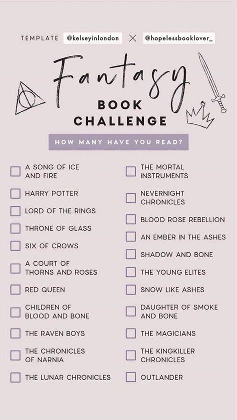 Fantasy book challenge