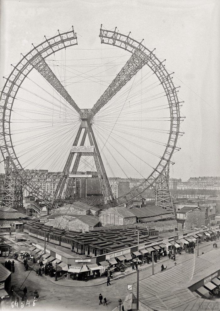 Démontage de la Grande roue - Paris 16e - Mars 1921 - Agence photographique Rol (Paris)