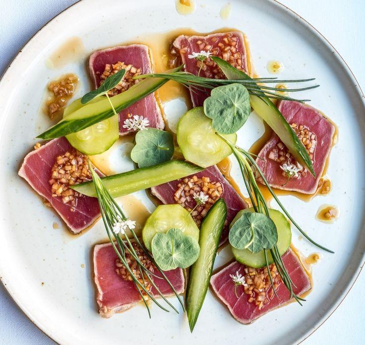 34 Gone Fishing pop-up - Ben Orpwood. Tataki yellowfin tuna, pickled cucumber…