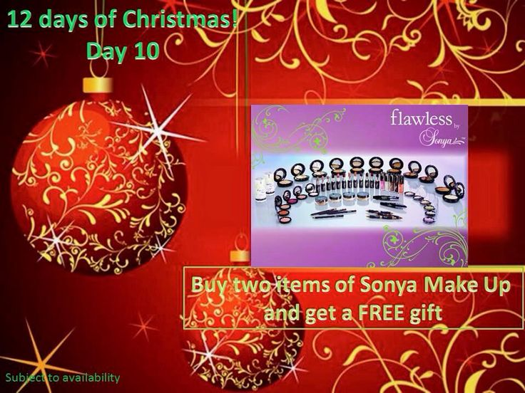 Day 10 - have a look - a new offer each day    Browse at www.aloevivi.myforever.biz/store    Buy any two Sonya Makeup products and get a free gift.
