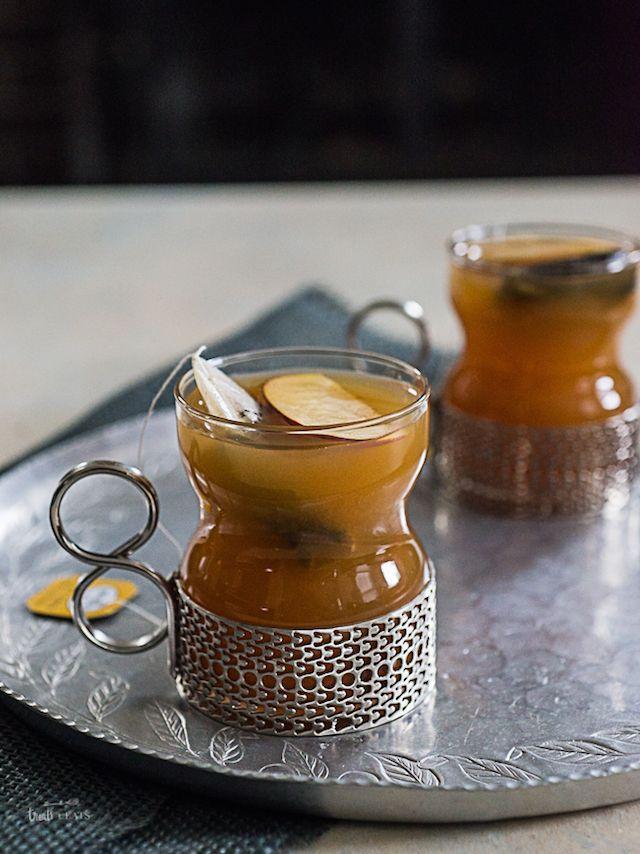 Warm Apple Cider Cinnamon Tea