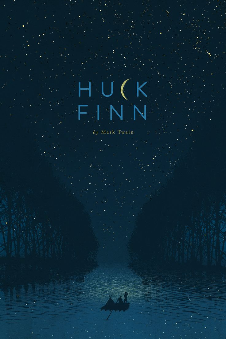 Huck Finn Book cover design.