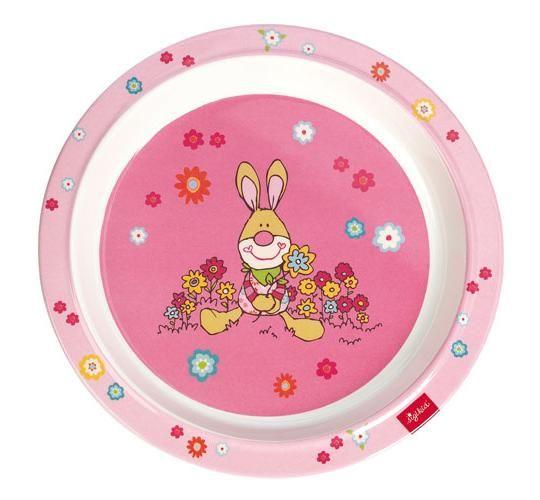 Sigikid Πιάτο ροζ 'λαγουδάκι'