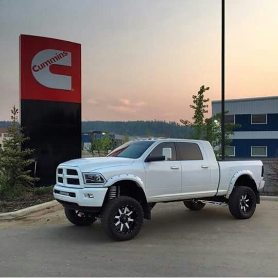 mega cab cummins - White Dodge Ram Cummins Lifted
