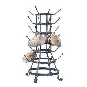 Coffee Mug Tree..: Zinc Antiques, Bottle Racks, Metals, Mugs Holders, 24 Hooks, Antiques Style, French Bottle, Products, Glasses Holders