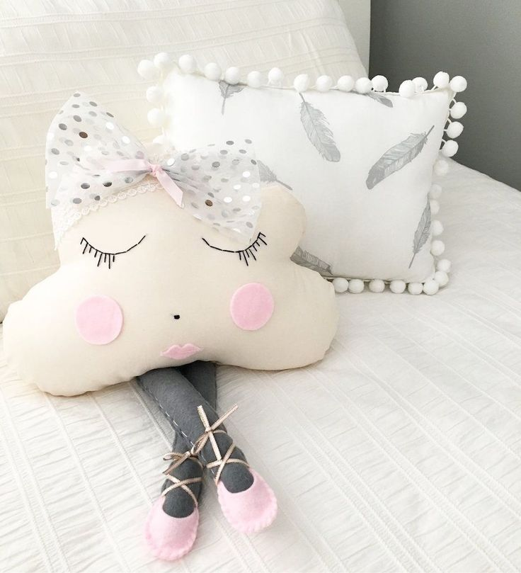 Miss Angel Ilaria Cloud Pillow Ballerina Miss Silver Sparkle, Children's Decor, Kids Decor, Kids Rooms, Nursery, Home Decor, Homewares, Homewares Online