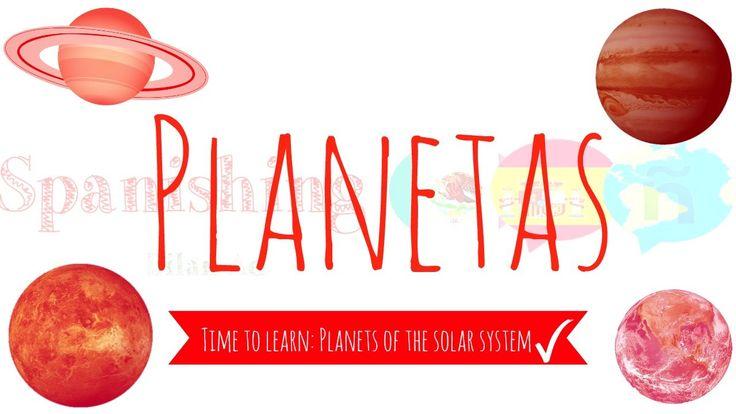 awesome Solar System Planets in Spanish | Los planetas del Sistema Solar en Español | Aprende Español Check more at http://sherwoodparkweather.com/solar-system-planets-in-spanish-los-planetas-del-sistema-solar-en-espanol-aprende-espanol/