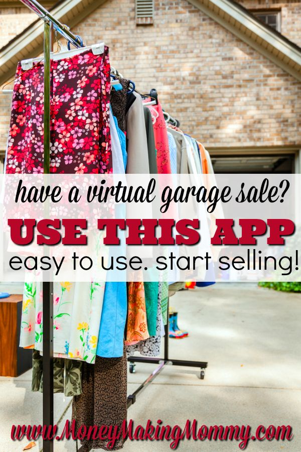 Use this app to have a virtual garage sale! MoneyMakingMommy.com