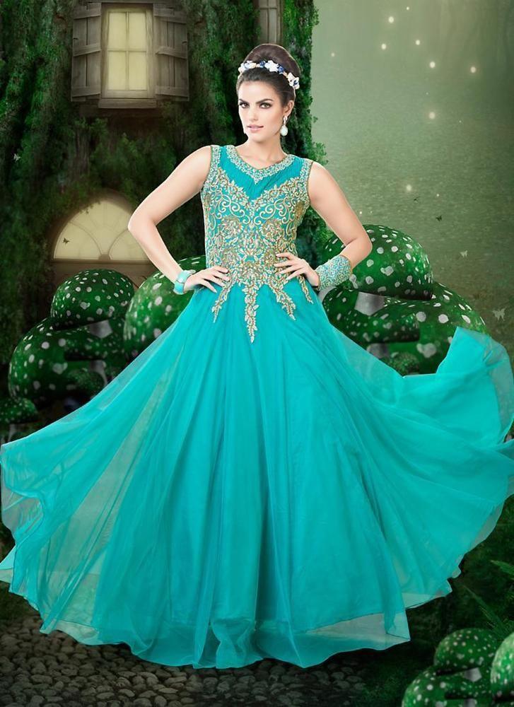 Kameez Anarkali New Designer Indian Salwar Gown Ethnic Pakistani Bollywood Dress #KriyaCreation #PartyWear