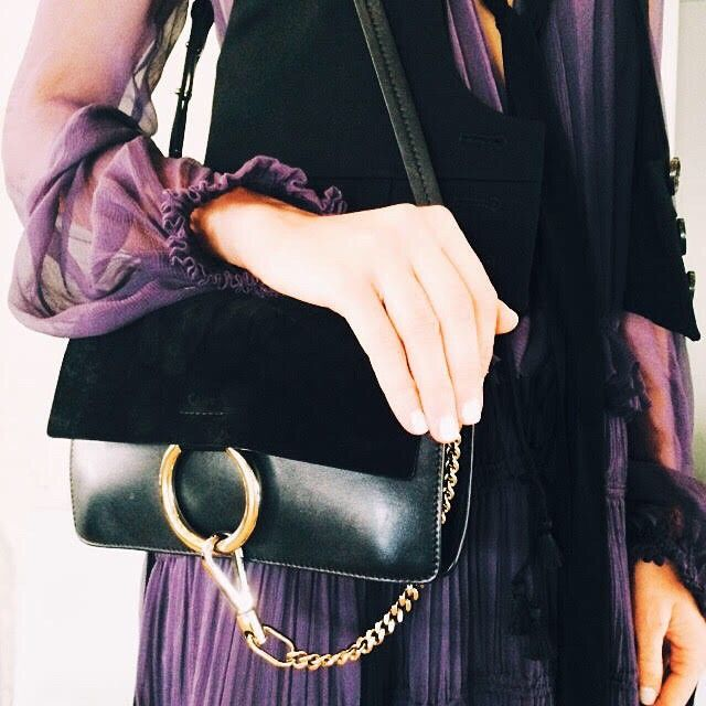 chloe replica shoes - Taking a moment to admire the @chloe Faye shoulder bag in black ...