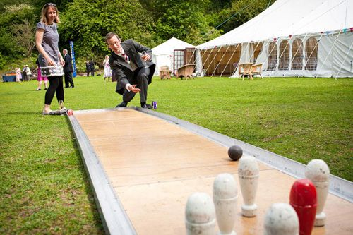 lawn bowling a fun game for your outdoor wedding reception