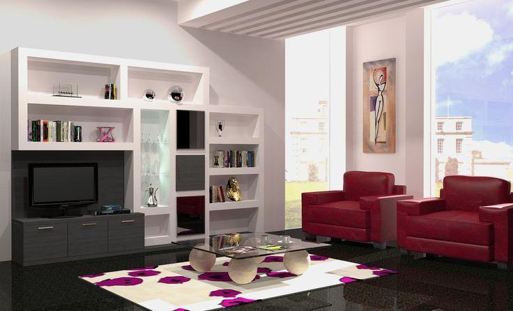 Dise o modelo ejemplo de nuestros salones modernos - Salones diseno modernos ...