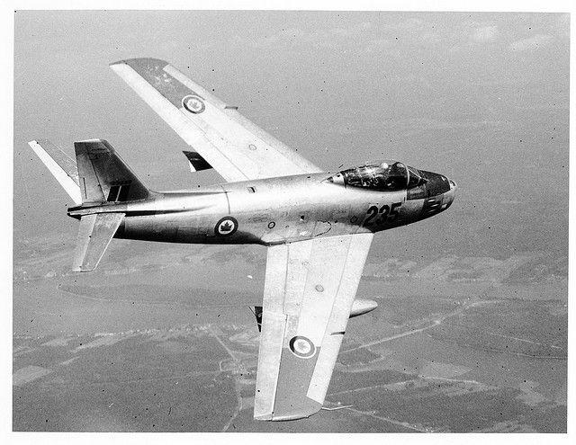 "Canadair CL-13 ""Sabre"" of RCAF."