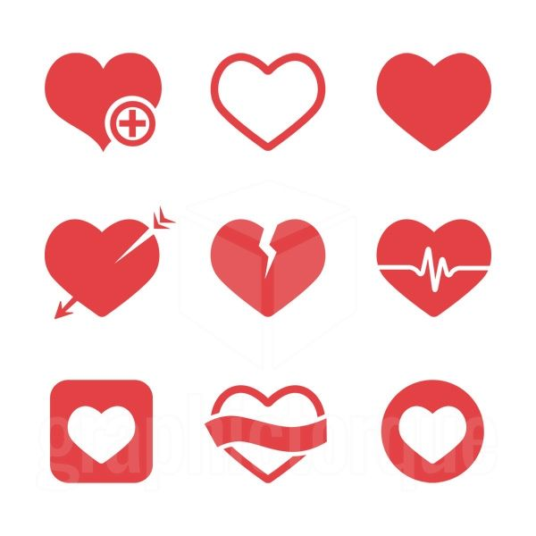 Hearts Minimalist Icons