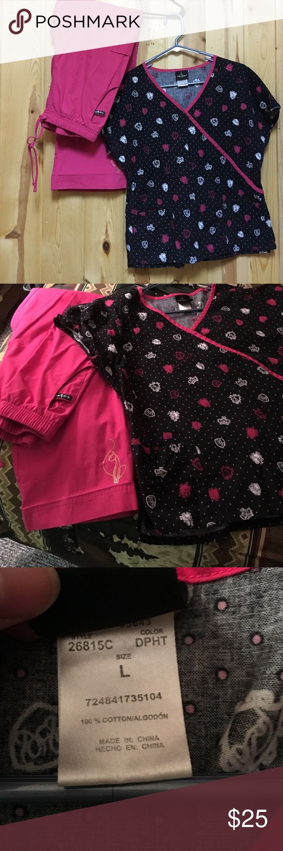 Baby Phat Scrub Set Small Pant Large/Medium Top Baby Phat Scrub Set Small Pant Large/Medium Top Good Used Condition Top fits more like a medium Baby Phat Other