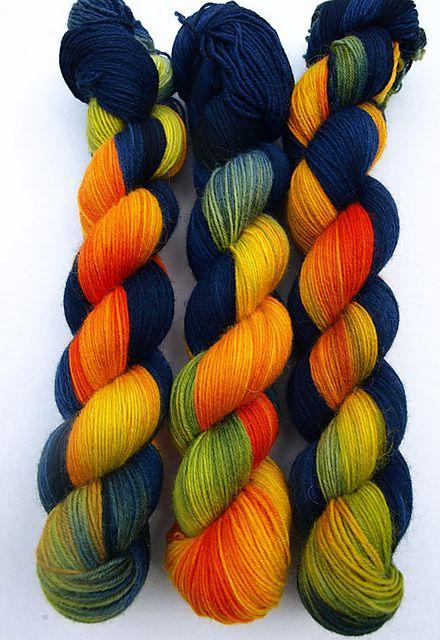 Ravelry: Socknrolla handgefärbte Sockenwolle