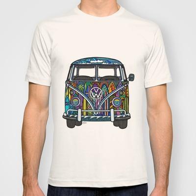 vw bus volkswagen bus surf bus t shirt surf art. Black Bedroom Furniture Sets. Home Design Ideas