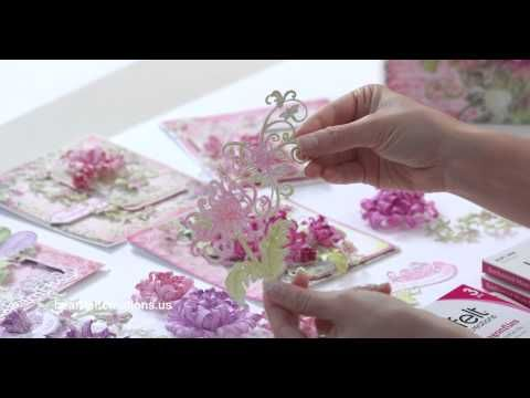 The EZ way to use your Paper Curling tip to shape the stunning Enchanted Mums! - YouTube