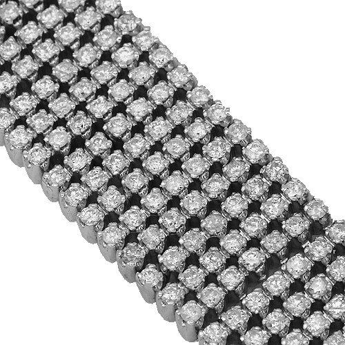 10K White Gold Mens Diamond Bracelet 25.00 Ctw | GlobalFeri.com Fine and Fashion Jewelry