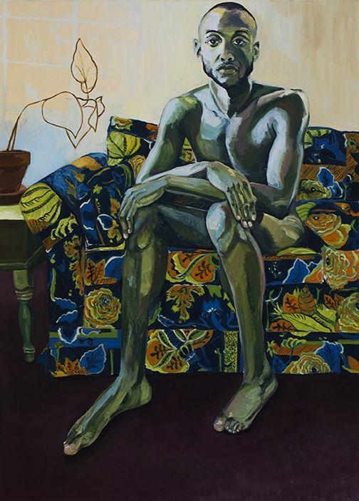 "Jordan Casteel ""Jireh"" Oil on canvas, 72 x 52 in, 2013"