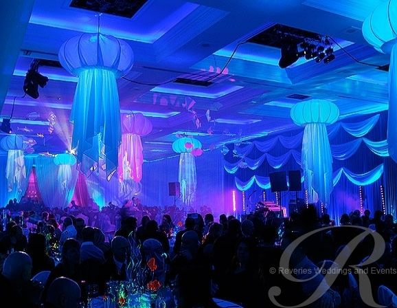 The Vere Grand - jellyfish wedding decor                                                                                                                                                                                 More