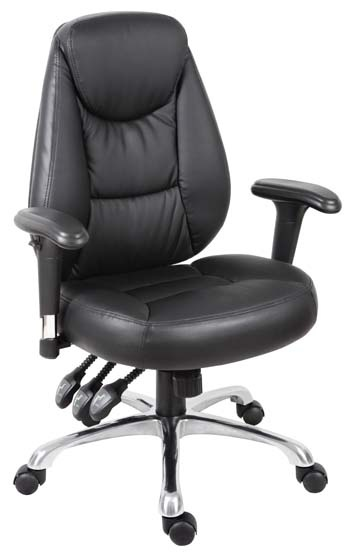 Portland Luxury operator chair with height adjustable armrests , back angle  adjustment and reclining function with