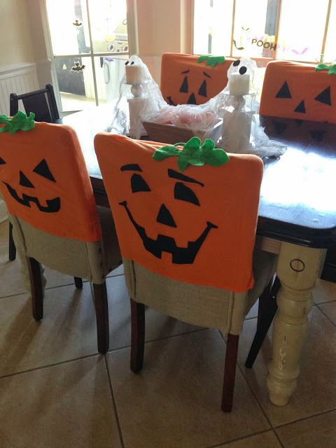 Pumpkin Chair Covers