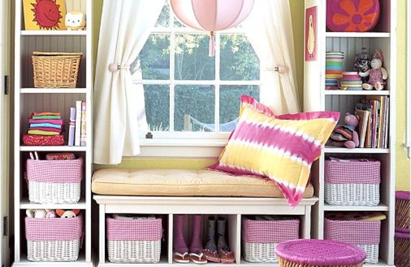 30 coole Aufbewahrung Ideen im Mädchenzimmer