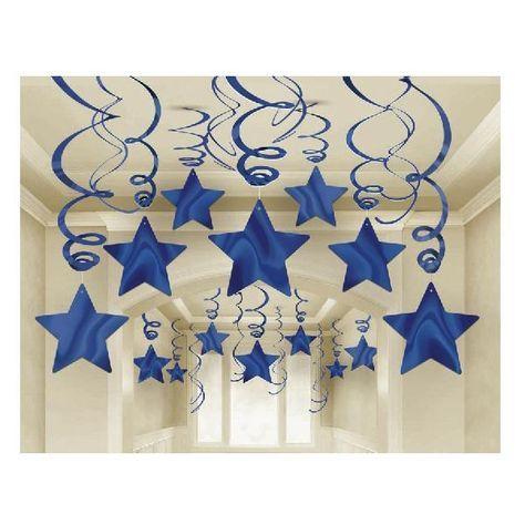 Estrellas Azules Colgantes (Pack 30)