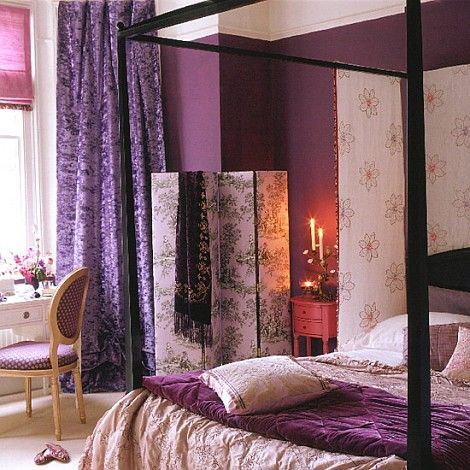 Purple room. http://picsdecor.com/home-decor-gallery/romantic-purple-bedroom-decoration-962.... Repinned from Shelly Darland Coats.